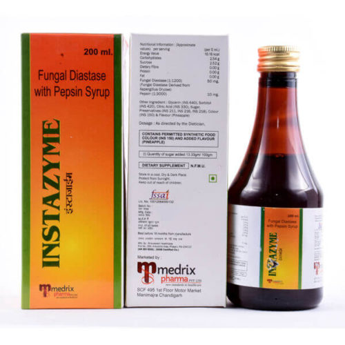 INSTAZYME | Fungal Diastase 50mg and Pepsin 10mg
